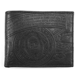 BUDWEISER Black Embossed Leather Bifold Wallet