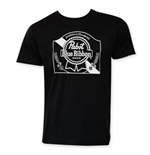 Pabst Blue Ribbon Heritage Logo Black Tee Shirt