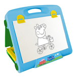 PEPPA PIG Double-Sided Travel Art Easel with 20pc Creative Kit, Multi-Colour (CPEP083)