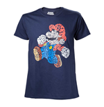 NINTENDO Super Mario Bros. Men's Mario Word Play T-Shirt, Small, Multi-colour