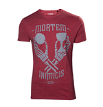 UNCHARTED 4 A Thief's End Men's Mortem Inimicis Suis T-Shirt, Small, Red
