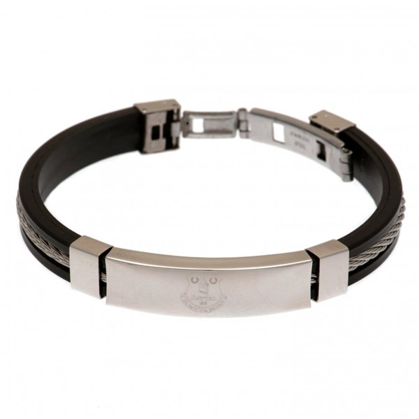 Everton F.C. Silver Inlay Silicone Bracelet