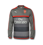 2016-2017 Arsenal Puma Training Sweat Top (Grey) - Kids
