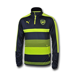 2016-2017 Arsenal Puma Half Zip Training Top (Peacot)