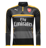 2016-2017 Arsenal Puma Half Zip Training Top (Ebony)