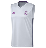 2016-2017 Real Madrid Adidas Sleeveless Jersey (White)