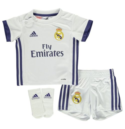 2f8a53472 Buy Official 2016-2017 Real Madrid Adidas Home Baby Kit