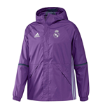2016-2017 Real Madrid Adidas Allweather Jacket (Purple)