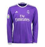 2016-2017 Real Madrid Adidas Away Long Sleeve Shirt (Kids)