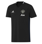 2016-2017 Man Utd Adidas Training Tee (Black)