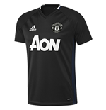 2016-2017 Man Utd Adidas Training Shirt (Black)