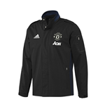 2016-2017 Man Utd Adidas Travel Jacket (Black)