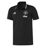 2016-2017 Man Utd Adidas Training Polo Shirt (Black)