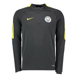 2016-2017 Man City Nike Training Drill Top (Dark Grey)