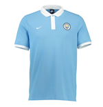 2016-2017 Man City Nike Core Polo Shirt (Blue)