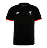 2016-2017 Liverpool Elite Polo Shirt (Black) - Kids