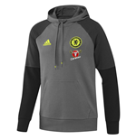 2016-2017 Chelsea Adidas Hooded Sweat Top (Dark Grey)