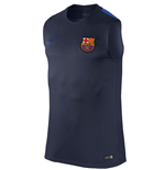 2016-2017 Barcelona Nike Sleeveless Training Shirt (Navy)