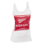 Women's MILLER High Life White Tank Top