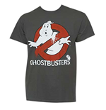 GHOSTBUSTERS Grey Movie Logo Tee Shirt