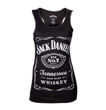 JACK DANIEL'S Woman's Old No.7 Brand Logo Tank Top, Extra Extra Extra Large, Black