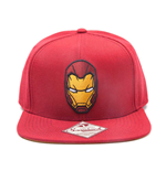 MARVEL COMICS Captain America: Civil War Iron Man Mask Snapback Baseball Cap, One Size, Red