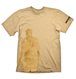 UNCHARTED 4: A Thief's End Nathan Drake Map T-Shirt, Extra Large, Orange
