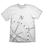 UNCHARTED 4: A Thief's End Compass T-Shirt, Large, White