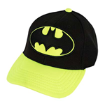 BATMAN Curved Bill Neon Yellow Hat
