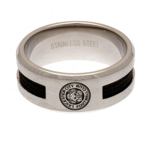 Leicester City F.C. Black Inlay Ring Small