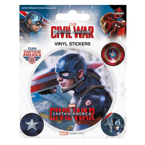 Captain America Civil War Stickers Captain America