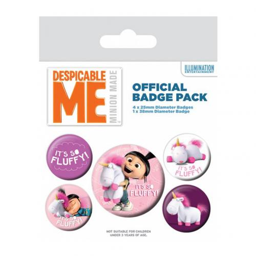 Despicable Me Button Badge Set Agnes