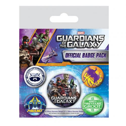 Guardians Of The Galaxy Button Badge Set