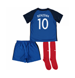 2016-17 France Home Little Boys Kit (Benzema 10)