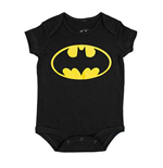 BATMAN Logo Infant Black Snap Bodysuit Onesie