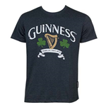 GUINNESS Distressed Harp And Clover Tee Shirt