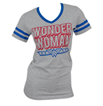 WONDER WOMAN Juniors V-Neck Tee Shirt