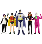 Batman 1966 Bendable Figures 5-Pack 14 cm