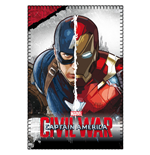 Captain America Civil War Fleece Blanket Captain America & Iron Man 100 x 150 cm