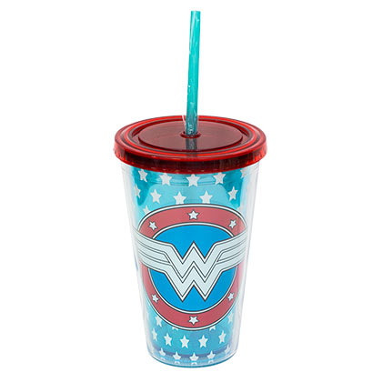 WONDER WOMAN Glow In The Dark Travel Cup