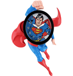 Superman 3D Motion Wall Clock Swinging Superman