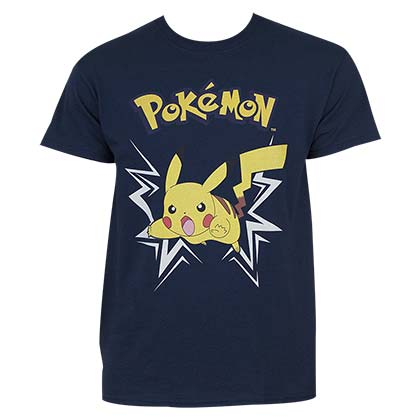 POKEMON Pikachu Charging Up Tee Shirt