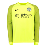 2016-2017 Man City Home Nike Goalkeeper Shirt (Volt)