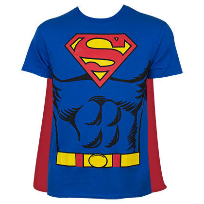 SUPERMAN Cape Costume Tee Shirt