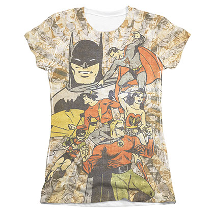 JUSTICE LEAGUE All Stars Sublimation Juniors Tee Shirt