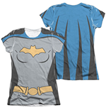 BATMAN Animated Series Batgirl Costume Sublimation Juniors T-Shirt