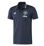 2016-2017 Man Utd Adidas Training Polo Shirt (Mineral Blue)