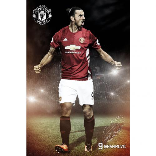 Manchester United F.C. Poster Ibrahimovic 22