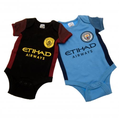 Manchester City F.C. 2 Pack Bodysuit 9/12 mths ST