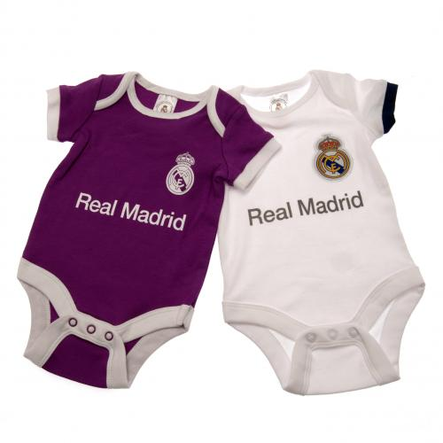 Real Madrid F.C. 2 Pack Bodysuit 0/3 mths PL